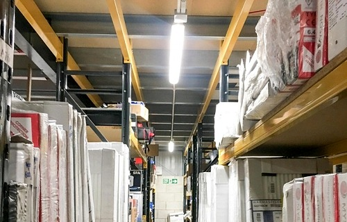 Plumbase warehouse lighting