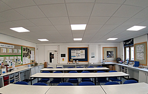 Wycliffe college prep school classroom lighting