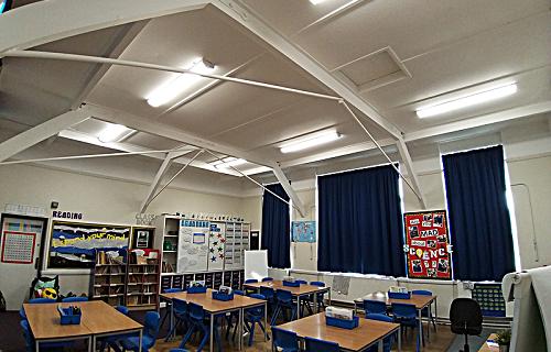 Purley Oaks School classroom lighting